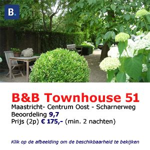 Bed and breakfast townhouse 51 Maastricht